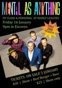 Mental As Anything, Manly Leagues Club 16th January 2015