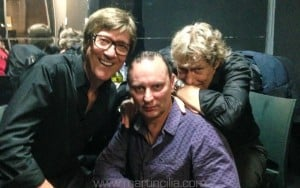 Martin with Hank Marvin & Gary Taylor, The Basement, Sydney, 25th November 2015