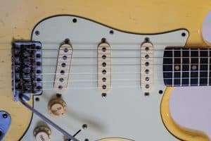 1963 White Fender Stratocaster